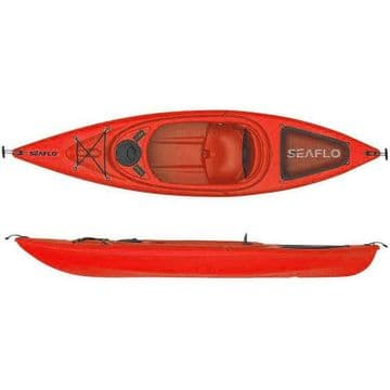 DELUXE SIT IN KAYAK CANOE RED 1004 seat-hatch-storage net-cup holder